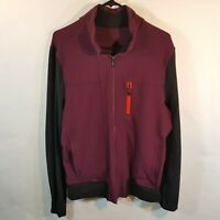 $130 Lululemon Post Gravity Jacket Mens Sz M L Luon Track Warm Up Plum Black