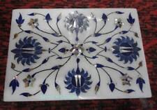 Indian Marble Handicrafts Blue Lapis Lazuli Box Marble Jewellery Box Arts Gifts