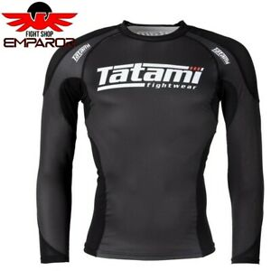Tatami Rashguard Technical Schwarz langarm MMA BJJ Grappling Rash Guard Herren