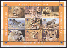 Niger - 1998 MNH mini-sheet of 9 Lions stamps #1004 Lot #1