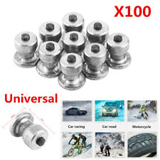 100X 8mm Car SUV Tires Studs Screw Metal Snow Spikes Wheel Tyre Anti-Slip Chain