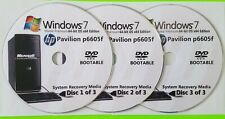 HP Pavilion p6605f Factory Recovery Media 3-Discs / Windows 7 Home 64-bit