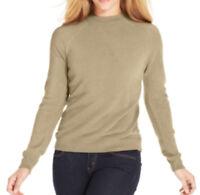 Karen Scott Mock Turtleneck Long-Sleeve Sweater Back Zip Oatmeal Heather XXL