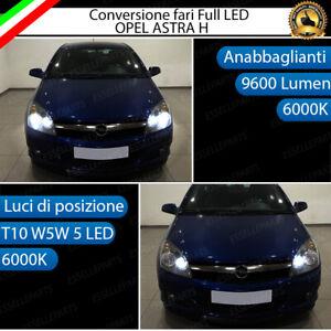 CONVERSIONE FARO FULL LED OPEL ASTRA H ANABBAGLIANTI + LUCI DI POSIZIONE 6000K