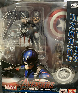 S.H.Figuarts Avengers Age of Ultron CAPTAIN AMERICA Figure BANDAI - AUTHENTIC