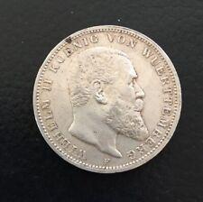 Münze 3 Mark Württemberg 1913 Wilhelm II