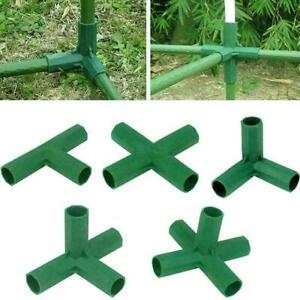 4xPlastic Garden Plant Awning Joints Connector Frame Parts Bracket O4I4