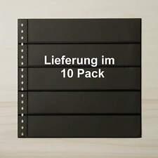 LINDNER Omnia Einsteckblatt 05 schwarz 5 Streifen - 10er-Packung