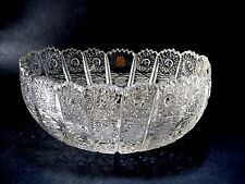 BOHEMIAN QUEEN LACE HAND CUT CRYSTAL OVAL BOWL -- JARDINIERE