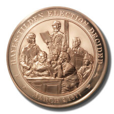 Franklin Mint History of US. Hayes-Tilden Election Decided 1877 45mm Proof Bronz