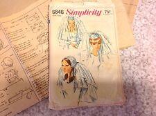 Bride Wedding Veil Vintage Simplicity Pattern, 1966, 6846, rare