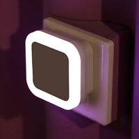 ALS_ LED Night Light Auto Sensor Control Bedside Bedroom Light Wall Lamp Plug In