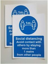 Pack of 2 Avoid contact with other people social distancing stay more than 1M