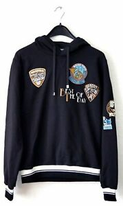 DOLCE & GABBANA Men's Black Musical Patch Hoodie - Pullover - Size 46 (IT)