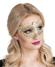 Da Donna Glitter Oro Venezia Veneziana Occhi Maschera Ballo in Maschera Costume