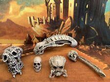 NECA Predator, human and alien trophy skulls lot