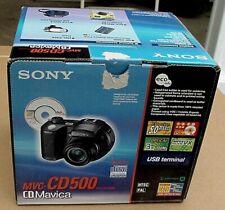 Slightly Used Sony Mavica MVC-CD500 5.0MP Digital Camera in Box With Extras
