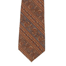 Liberty of London by Berkley Vintage Browns and Blue Floral Striped Silk Tie