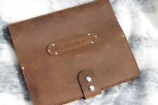 Leather log book cover Australian truck drivers diary handmade by seller