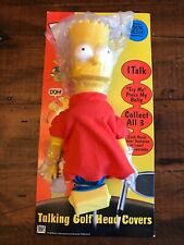 2000 Bart Simpson Talking Golf Club Head Cover | New, Needs Batteries Untested