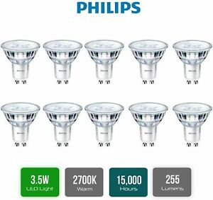 Philips 3.5w = 35w 240v GU10 Base 36° LED 827 Spotlight Lamp