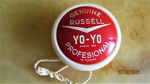 VINTAGE YO-YO PROFESIONAL GENUINE RUSSELL COCA COLA