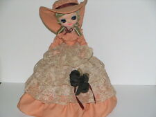 "Doll 14"" Bradley Doll 1979 all original Southern bell Peach dress GREAT conditio"