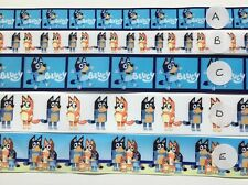 "BB Ribbon BLUEY 2m grosgrain 7/8"" 22mm or 1 1/2"" 38mm bingo select design"