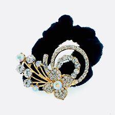 USA Ponytail holder Elastic Rhinestone Crystal Hair Tight Rope Gold Flower 2-4