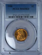 1946 Lincoln Cent PCGS MS65RD ET599/CBS