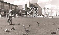 Photographie, Paris, La Défense, XXe Femme nourrissant pigeons, Photography 20th