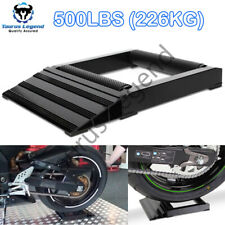 500lb Motorcycle Wheel Roller Motorbike Tyre Chain Cleaning Service Stand