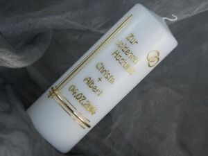 Hochzeitskerze Kerze Goldene Gold Hochzeit 16666