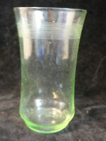 Green Needle-Etched Depression Glass Tumbler - LAST ONE