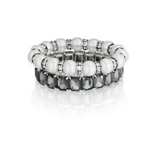 Chloe + Isabel Classic Pearl Stretch Bracelet Set - B173 - New -