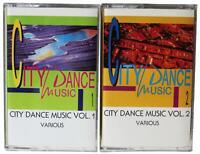 LOT Of 2 CITY DANCE MUSIC CASSETTE TAPES Vols 1 & 2 Italo Disco 80s Hi NRG House