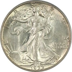 1933-S PCGS AU58 Choice AU Walking Liberty Half Dollar - Nearly Full Luster!