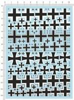 Universal 1/6 1/72 1/144 1/35 WWII German Military Iron Cross Model Water  Decal