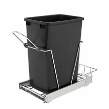 Rev A Shelf 35 Quart Pull Out Sliding Single Waste Trash Container Bin (Used)