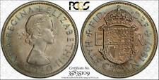 1967 GREAT BRITAIN 1/2CR  PCGS MS64 BEAUTIFUL & TONED ONLY 9 HIGHER!