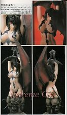 None Scale Set Bust Devilman Lady & Base Unpainted Resin Model Kit
