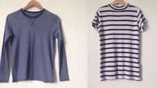 H&M 12-14 Yrs Navy Striped Long Sleeve Stretch Top & F&F Short Sleeve Top<BC1051