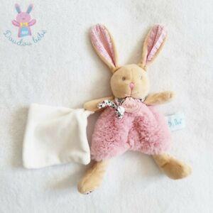 Doudou Lapin Poupi rose beige fleurs mouchoir blanc BABY NAT (état neuf) 3 dispo