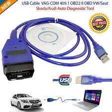 VAG-COM VCDS Cable USB Scanner Tool OBD 2 409.1 VW Audi Ross Tech INPA BMW