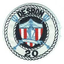 USN Navy Ship Patch:  Destroyer Squadron 20 - 3 1/2""