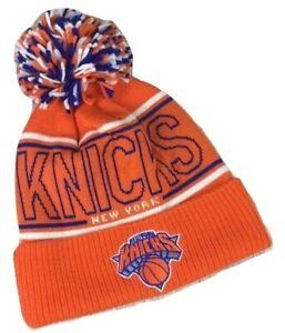 adidas New York Knicks Cuffed Knit Beanie with Pom NBA