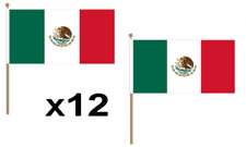 Mexico Waving Hand Table Flag 12 Pack Decoration Mexican National Country