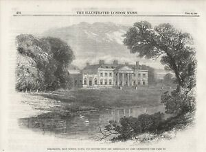 OLD 1865 PRINT BROADLANDS ROMSEY HANTS SEAT AND BIRTHPLACE OF LORD PALMESTON s21