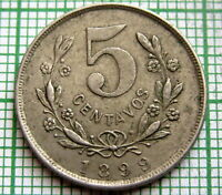 NICARAGUA 1899 5 CENTAVOS, ONE YEAR TYPE