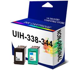 338 & 344 2 Ink Unbrand Fits for hp PSC 2353 2355 2355p 2355v C8765EE C9363EE